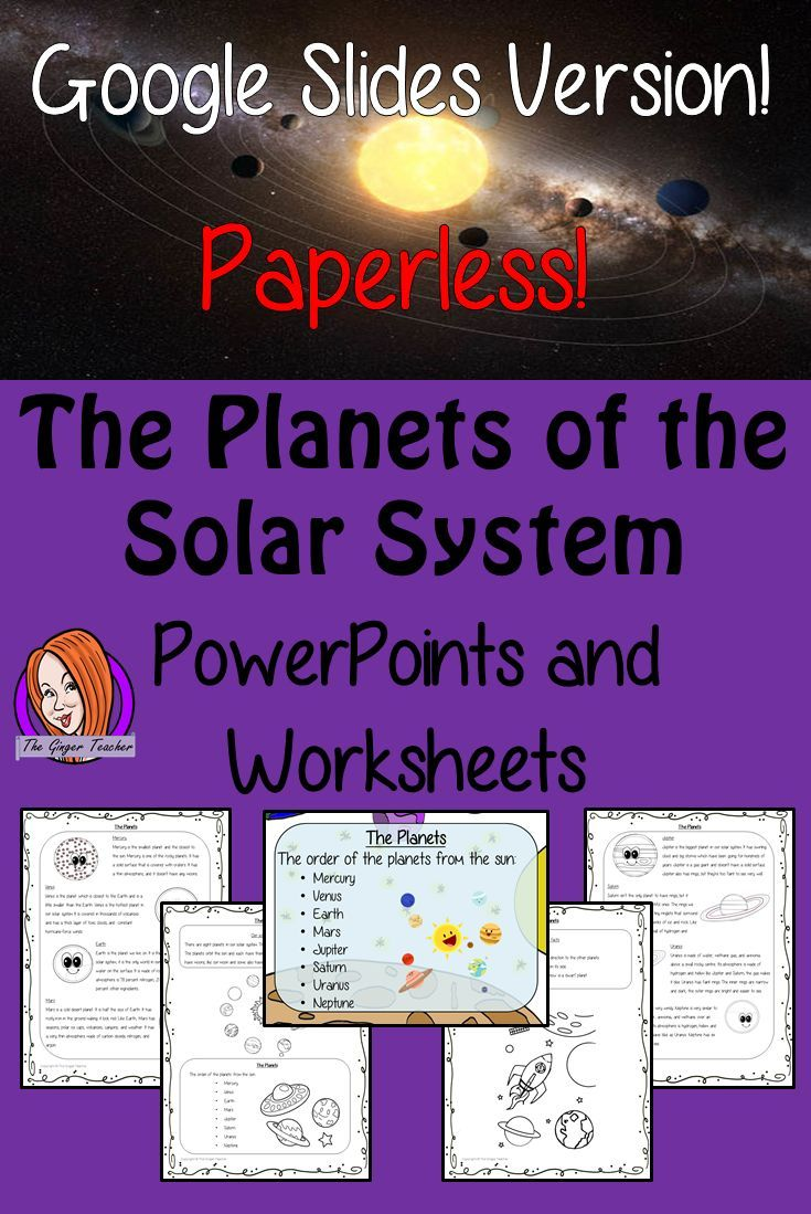 The Planets Of The Solar System Digital Lesson In Google Slides Digital Lessons Solar System Worksheets Learning Worksheets [ 1099 x 735 Pixel ]