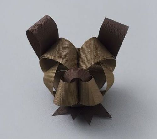 doggy bow by Ribbonesia. I need to learn how to make these!