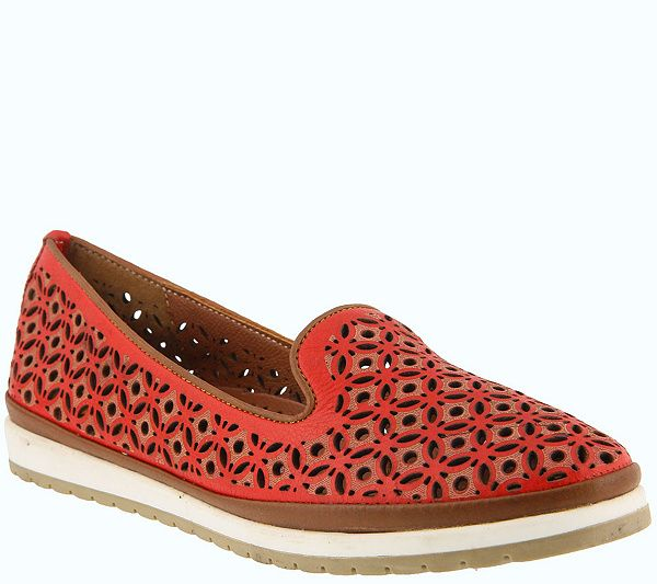 Give your feet--and your style--a breath of fresh air with these two-tone leather loafers. From Spring Step. QVC.com