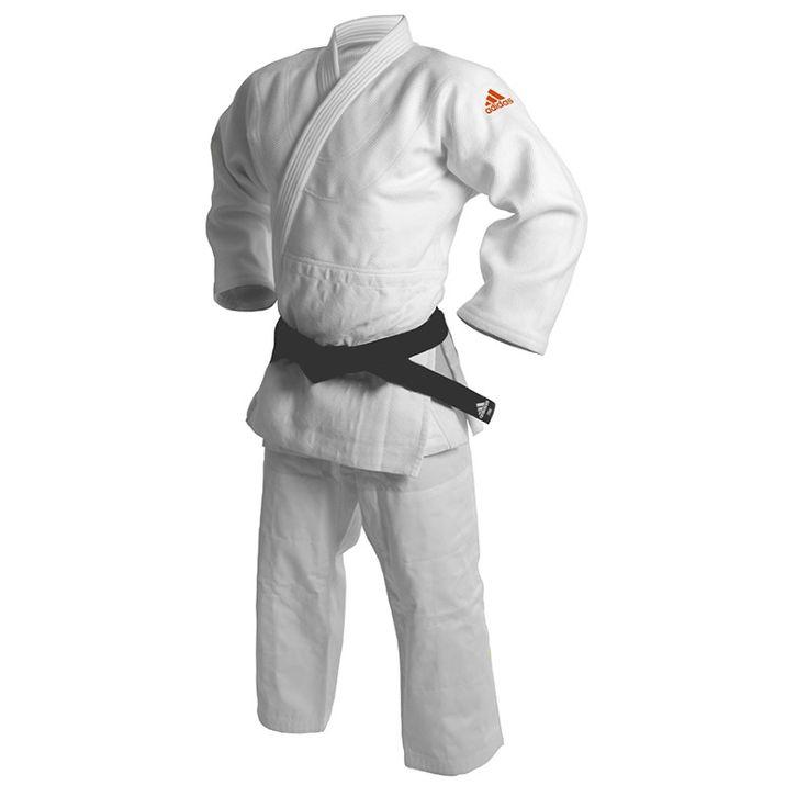 Kimono de judo adidas millenium logo jaune fluo