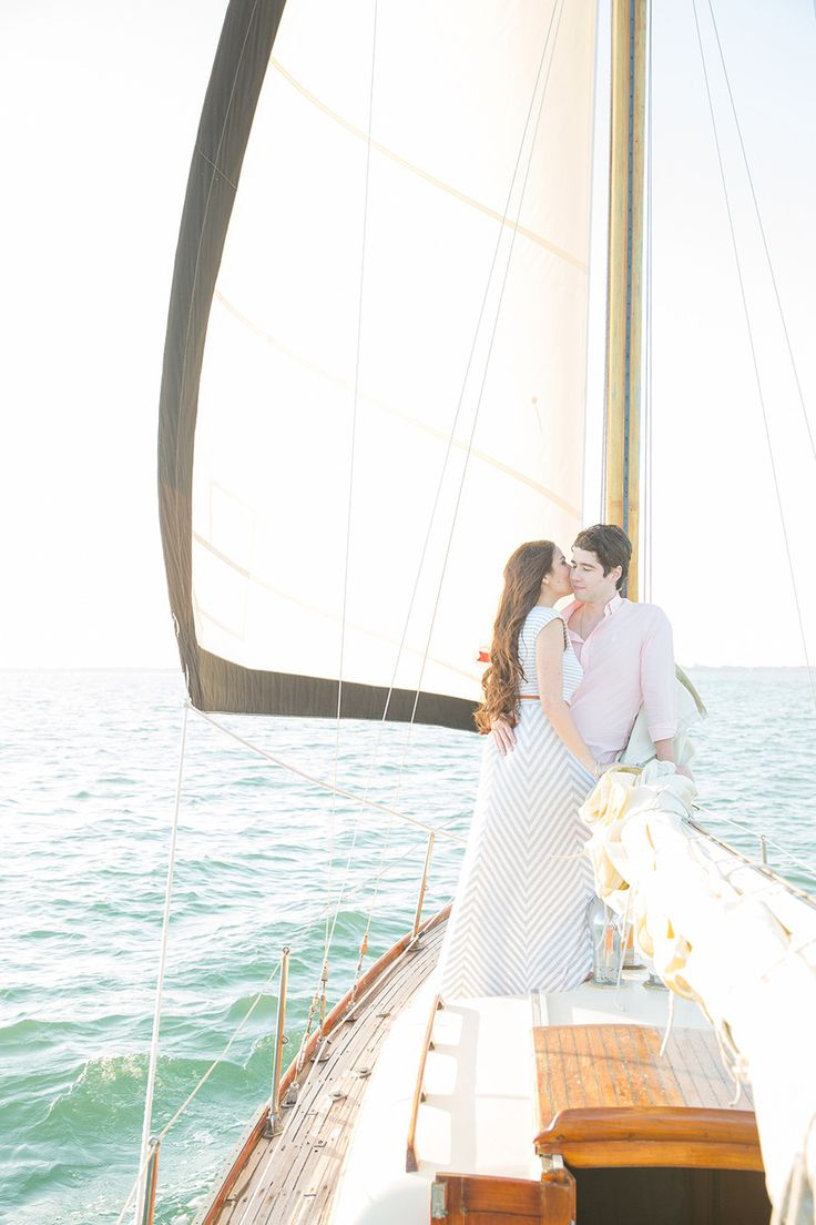 Sailboat Engagement From 1313 Photography