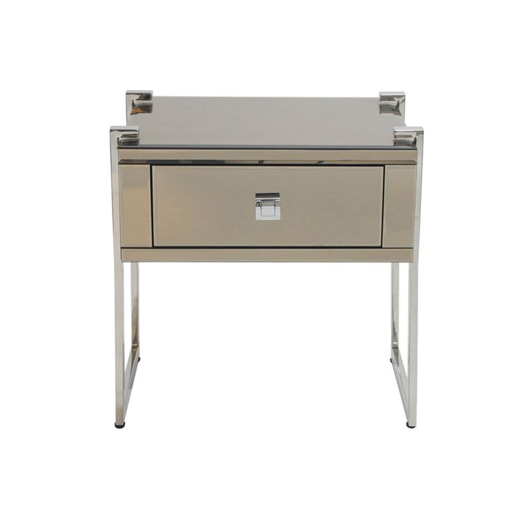 Ava Copper Mirrored Bedside Table 54cm x 40cm x 56cm