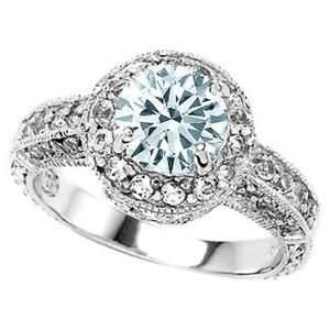 Aquamarine engagement ring... who needs diamonds?