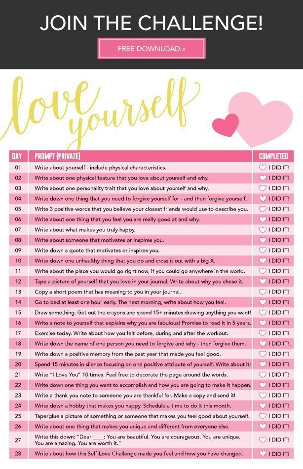 "Challenge ""30 days loving yourself challenge"" : comment s'auto-kiffer en 30…"