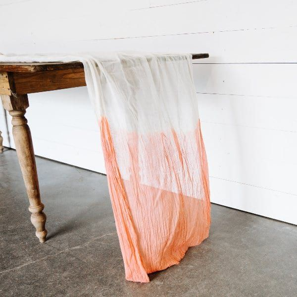 Custom Dip-Dyed Cheesecloth Runner / Loot Vintage Rentals