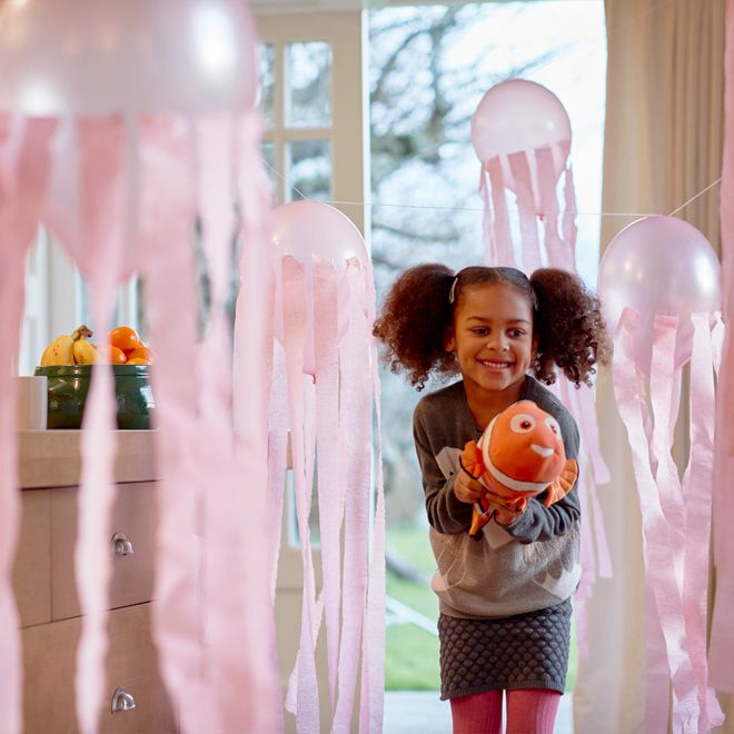 Bring one of everyone's favourite Finding Nemo scenes to life by creating a jellyfish obstacle course at home!