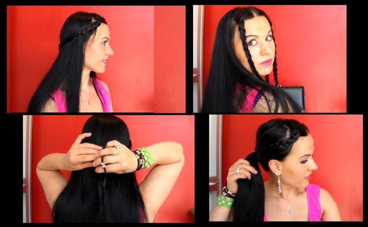 TUTORIAL:Acconciature 3 in 1 in solo 5 minuti/ Hairstyle 3 in 1 in only ...