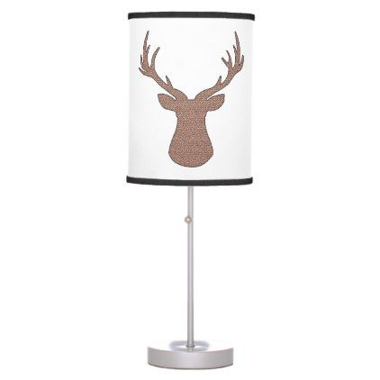 Deer - geometric pattern - brown. desk lamp - decor gifts diy home & living cyo giftidea
