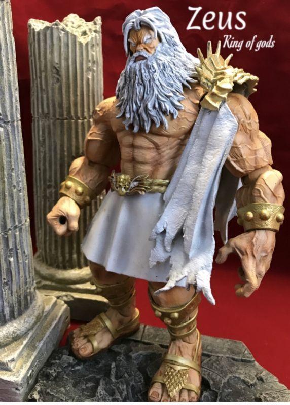 Zeus King Of Gods Marvel Custom Action Figure Marvel Legends Action Figures Action Figures Custom Action Figures