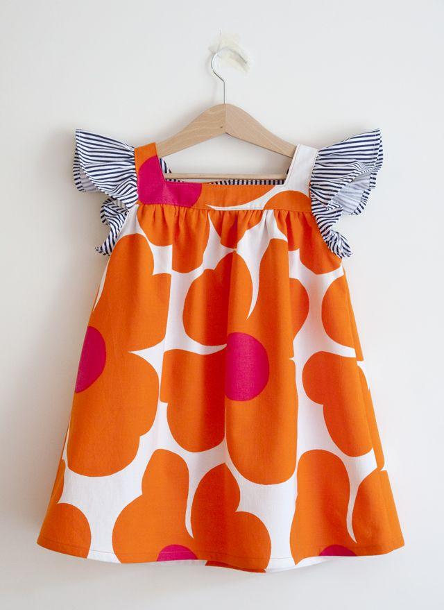 UKKONOOA: Kesähepenet / Summer dresses / material from vintage tablecloth