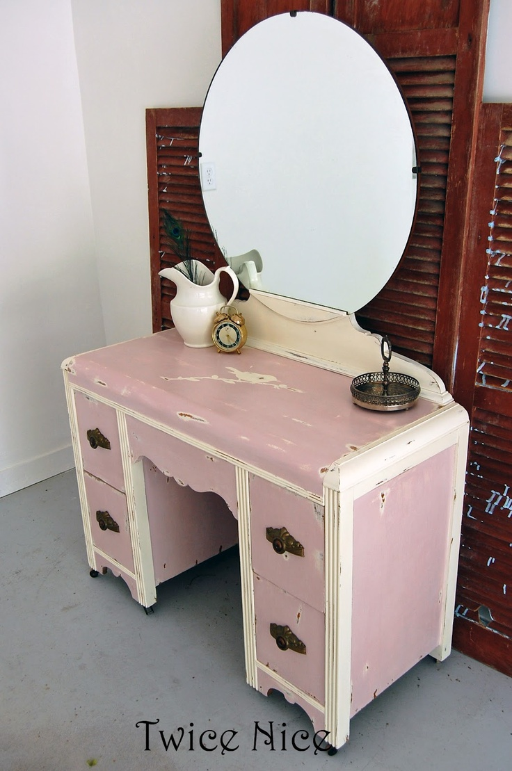Painted Vanity Furniture: Painted Waterfall Vanity - Google Search
