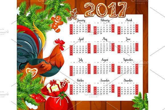 2017 year calendar. Wooden #christmas #calendar