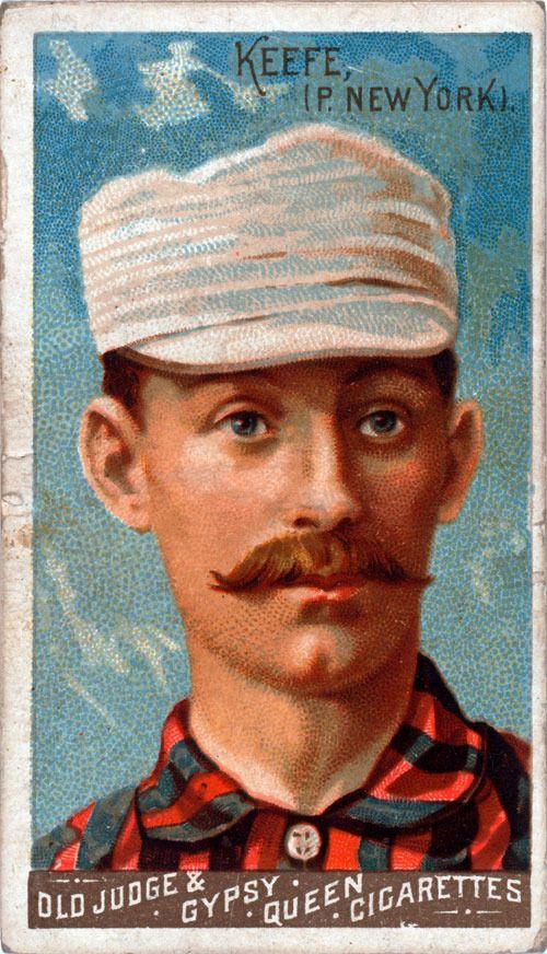 Vintage Baseball Card, Tim Keefe, New York Giants