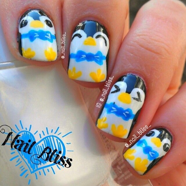 Penguin Nail Art Designs: 44 Best Paint My With Penguins Fetish Images On Pinterest