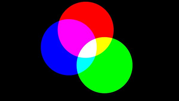 Red Green and Blue Circles Animation Version 2 For Social Media - When you have a site or idea to share, grab people's attention on social media sites by using this video! Loopable video features red, green, and blue circles moving around showing the colors cyan, magenta, yellow, and white when they overlap. No audio. 15 seconds long at 720p resolution in H.264 MP4 format.