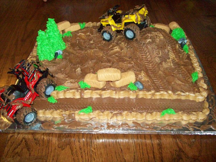 This Client Wanted Four Wheelers And Mud I Made A Hill For The Toy To  cakepins.com