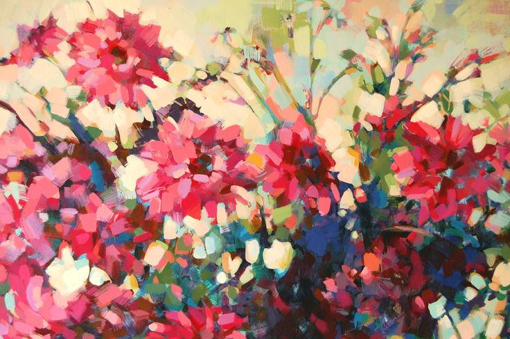 Detalle - Acrílico sobre tela - Serie Flores 2015 - carocostajung@gmail.com