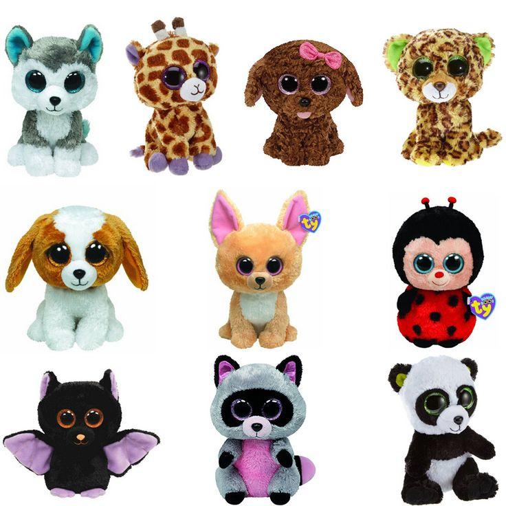 10Pcs/Lot Beanie Boos Plush Animals Plush Toys Big Eyes Soft Toys for Children christmas Kids Toys (most no tags)