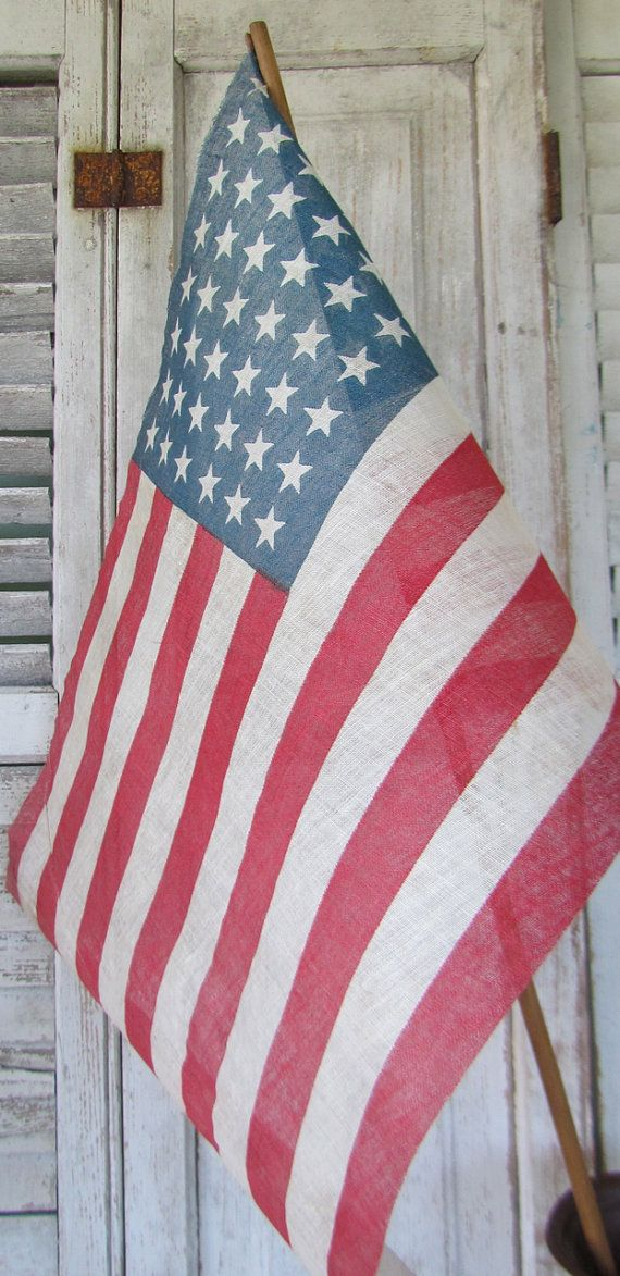 U.S. Parade Flag - Vintage 48 Star Flag c1912-1959    - 4th of July - Patriotic - Red White Blue on Etsy, $22.00