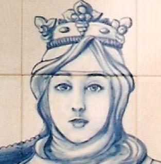 """OS MEUS TEXTOS: A RAINHA SANTA ISABEL E D. DINIS DE PORTUGAL - D. Isabel de Aragão nasceu no palácio de Aljaferia, na cidade de Saragoça, onde reinava o seu avô paterno D. Jaime I. Era filha de D. Pedro, futuro D. Pedro III, e de D. Constança de Navarra. A princesa recebeu o nome de Isabel por desejo de sua mãe em recordação de sua tia Santa Isabel da Hungria, duquesa de Turíngia. O seu nascimento veio acabar com as discórdias na corte de Aragão, pelo que o seu avô lhe chamava """"rosa da casa…"""