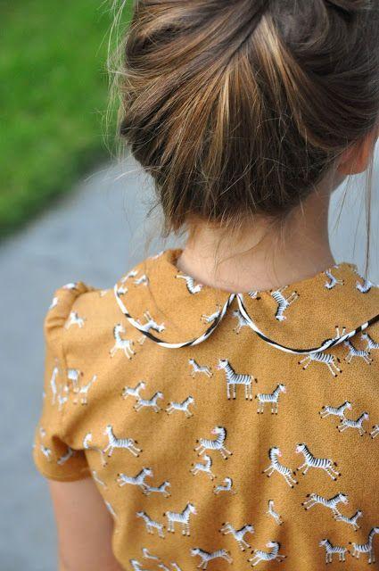 Zebra print dress, gorgeous. love her hair, too. emma en mona | print - cute collar detail