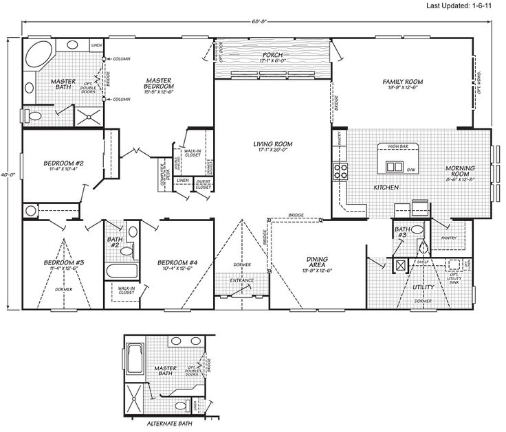 Triple wide manufactured home floor plans oregon gurus floor for House plans oregon