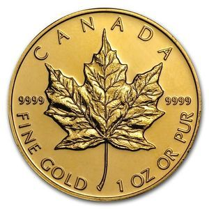 Buy 1 oz Gold Canadian Maple Leaf  Random Year  SKU #87709