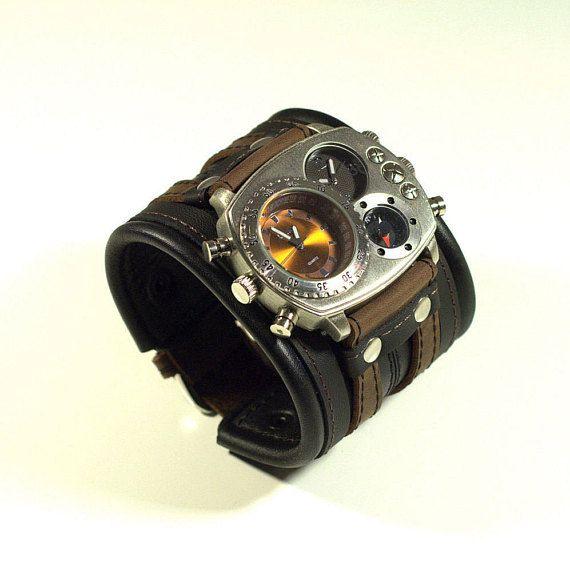 Reloj de pulsera de reloj de pulsera para hombre Steampunk