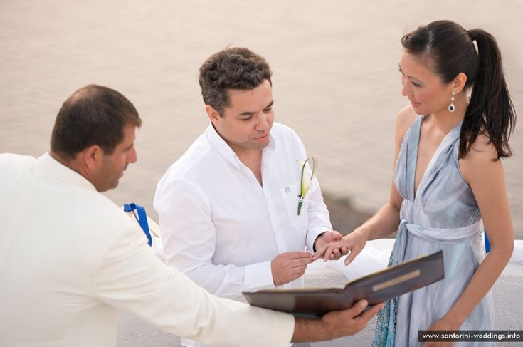 Santorini wedding ceremony #civil #destination #wedding #planners