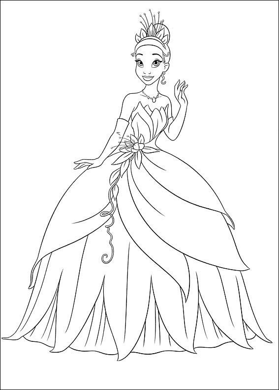 coloring page Princess and the