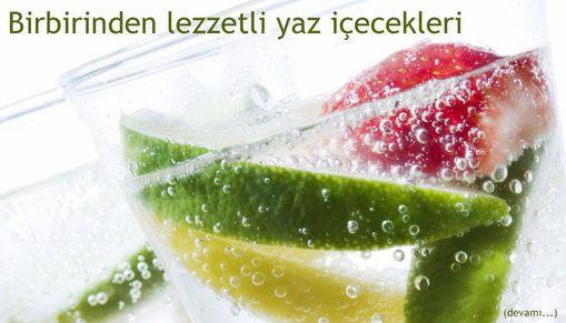 Birbirinden lezzetli yaz içecekleri