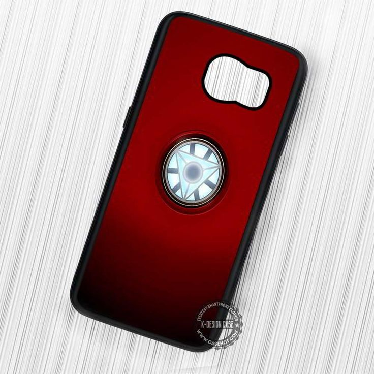 Arc Reactor Iron Man Red Background - Samsung Galaxy S7 S6 S5 Note 7 Cases & Covers