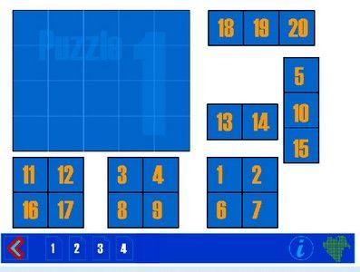 Leuk voor op het digibord! Het honderdveld is voor beelddenkers erg effectief om overzicht te krijgen in het rekenen. Als het honderdveld visueel is opgeslagen kunnen ze d.m.v. bewegingen wél rekenen! Onderstaand spelletje is leuk om te oefenen met het honderdveld! Het kan ook op het digibord gespeeld worden via deze link. Voor eenvoudige puzzels tot 20 kun je kiezen …