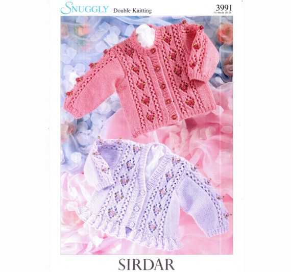 Vintage Baby Lace 'Roses' Frilly Cardigan Knitting Pattern, Preemie, Toddler, Children, Doll, Bobbles, Victoriana, Cottage Chic, Prettyx