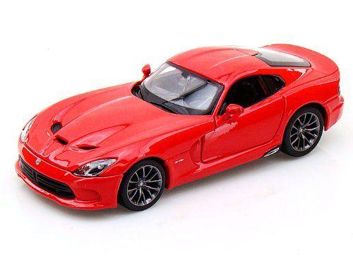 Maisto Special Edition - 2013 SRT Viper GTS Model Car 1:24 - Metallic Red (31271)  Manufacturer: Maisto Enarxis Code: 018122 #toys #Maisto #miniature #cars #Dodge #Viper