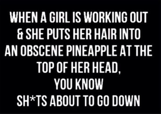 This is so true! Funny gym memes for girls and women who lift and workout - Gym hair don't care!