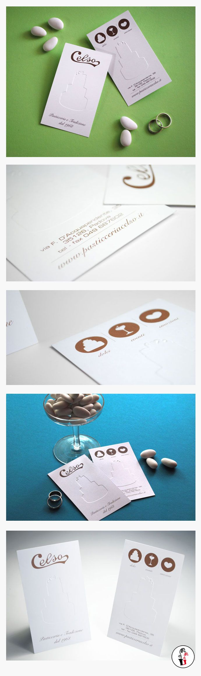 Corporate Identity - Pasticceria Celso - #embossing
