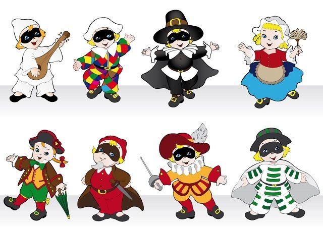 Ecco una selezione di maschere di Carnevale italiane da stampare e colorare per intrattenere i bambini e fare bei lavoretti!