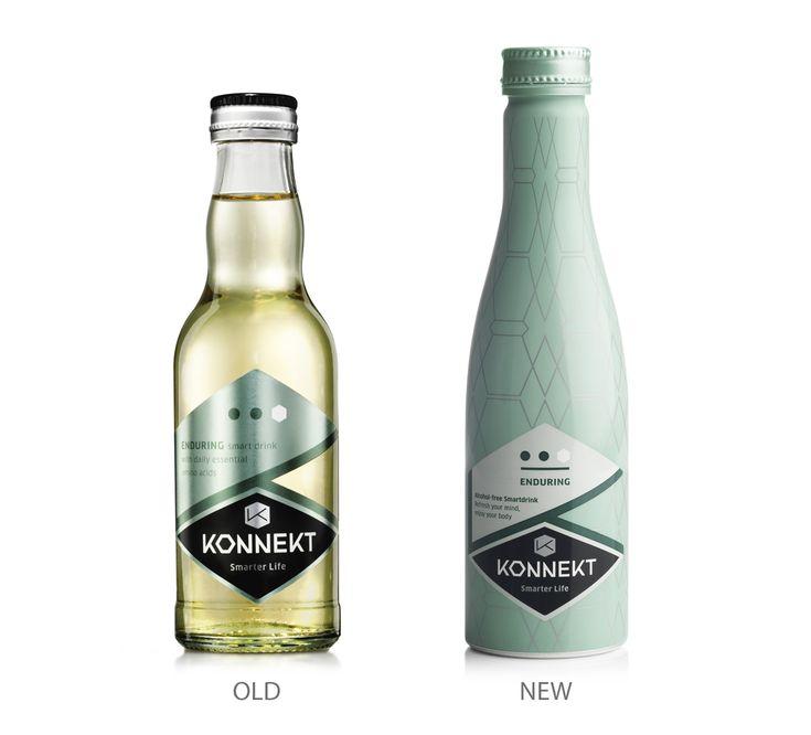 Konnekt Smart Drinks on Packaging of the World - Creative Package Design Gallery