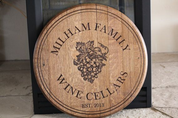 Custom Engraved Wine Barrel Sign or Lazy by RockCreekFurnitureCo, $200.00