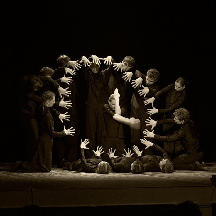 Hands theatre...way to cool!! EX: Light and Space, and Form and Texture