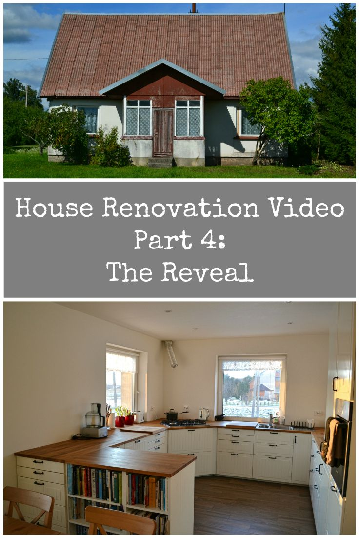 Video of our House Renovation Project in Lithuania. Part 4 - The Reveal of the finished house.