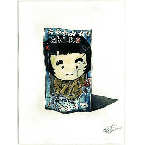 This is a sweet potato chips girl from Bangkok (the product itself is Japanese I guess)I fell in love with their packages during my first trip in Asia last autumn. They look so authentic and fresh! :) (and also grumpy) Who can explain why? :)
