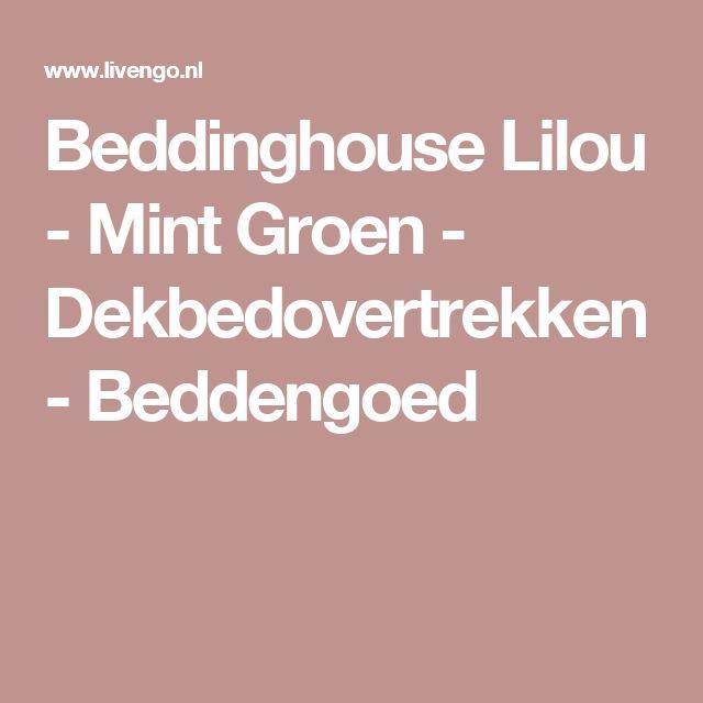 Beddinghouse Lilou - Mint Groen - Dekbedovertrekken - Beddengoed