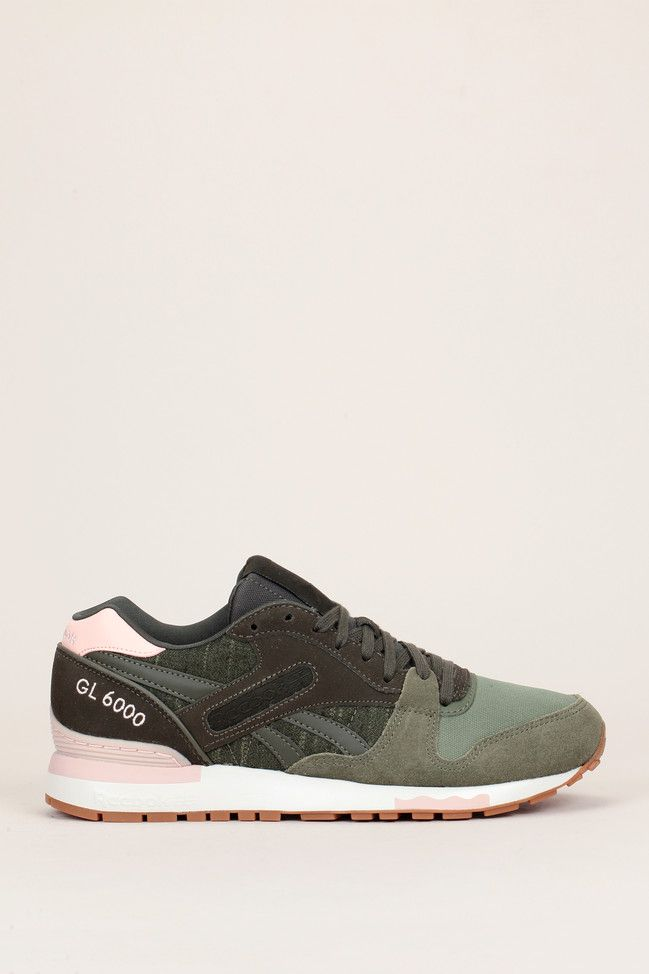 5f6906b35f0a ... Runnings multimatières kaki/rose GL6000 - Reebok ...