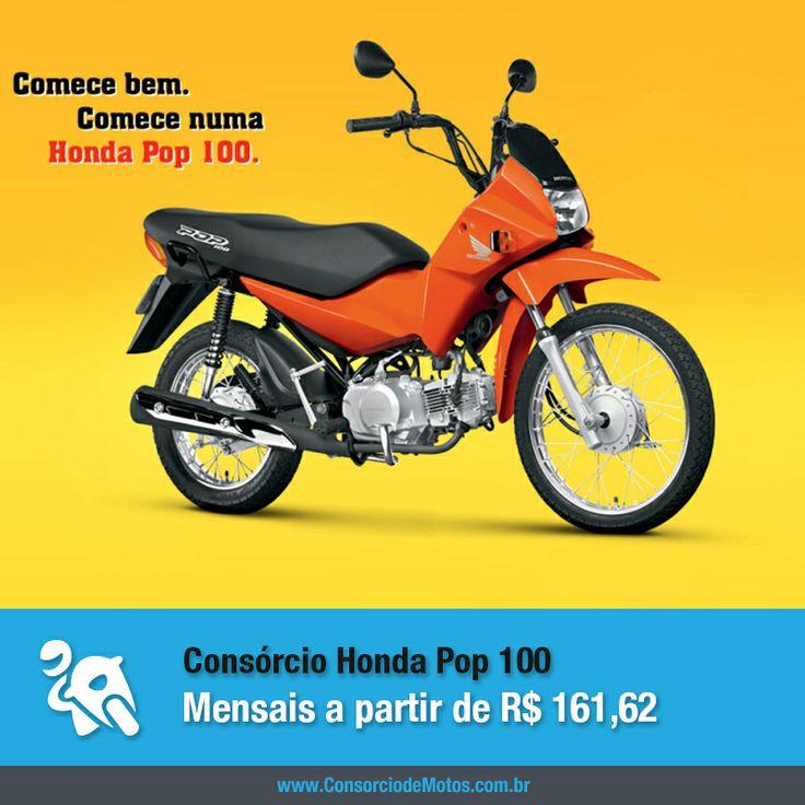 Se você está em busca da primeira moto ou precisa de agilidade e economia para o seu dia-a-dia, a Honda Pop 100 é uma das melhores escolhas. Veja na matéria: https://www.consorciodemotos.com.br/noticias/honda-pop-100-em-ate-50-meses-sem-juros-pelo-consorcio?idcampanha=288&utm_source=Pinterest&utm_medium=Perfil&utm_campaign=redessociais