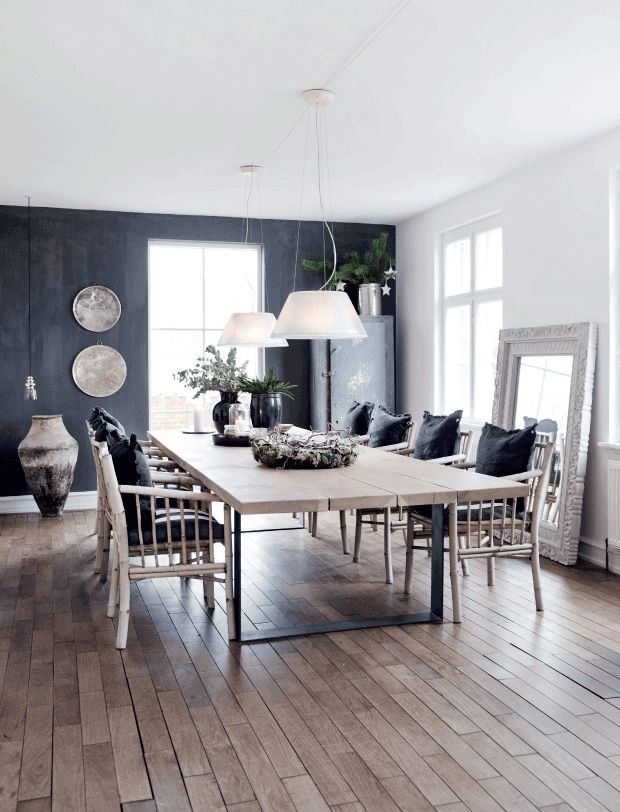 Accent wall adds to the appeal of this dining room.