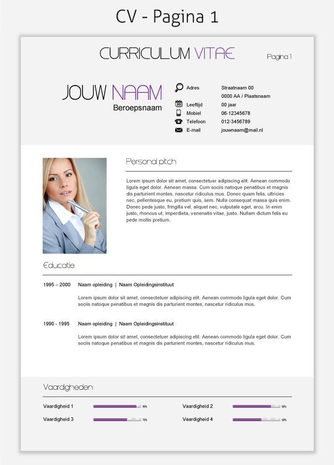 CV template 257 om te downloaden