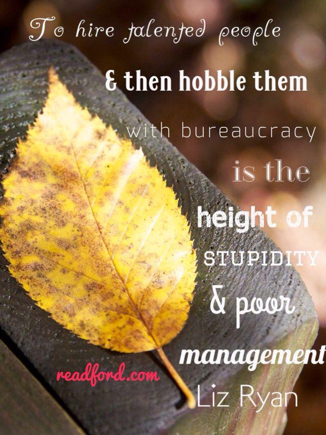 Talent bureaucracy inspiration passion purpose