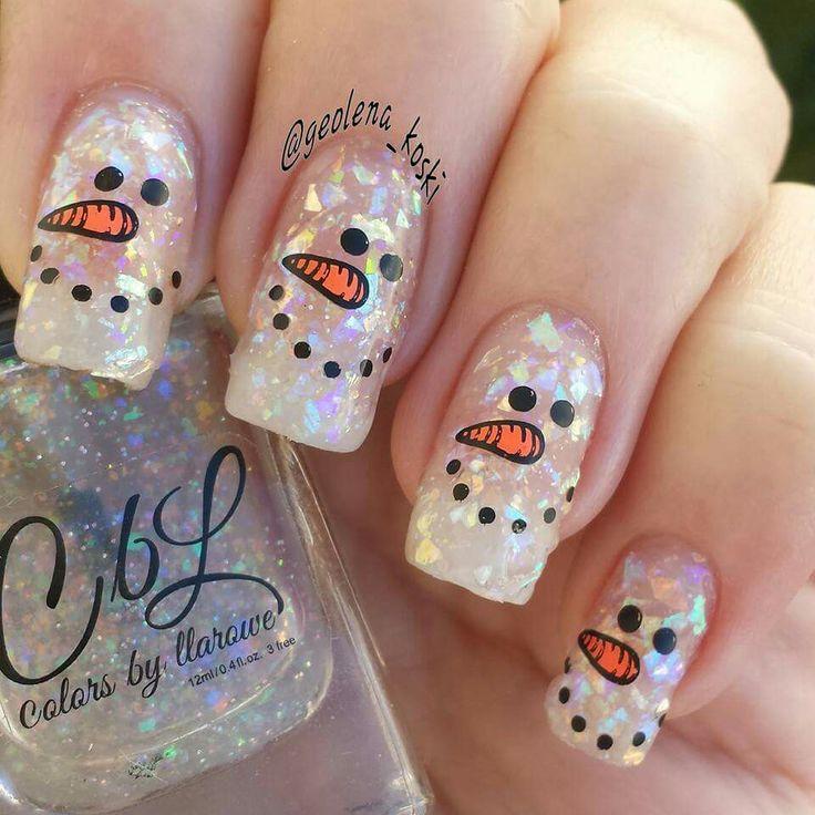 Best 25 snowman nails ideas on pinterest snowman nail art diy snowman nails prinsesfo Image collections